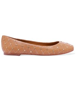 Tory Burch Sandels Leather Comfortable Round Toe Tan Flats