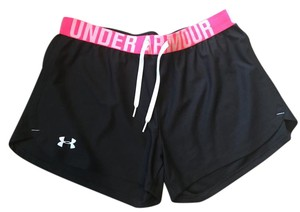 Under Armour Black and Pink Shorts