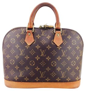 Louis Vuitton Monogram Canvas Leather Doctor Bowling Satchel in Brown and Tan