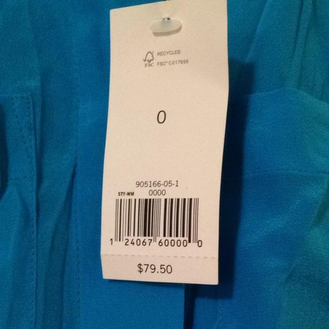 Banana Republic Silk Two Breast Pockets Top Turquoise gem