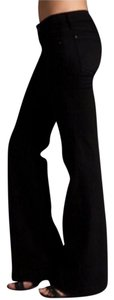 7 For All Mankind Velvet Long High Waist Velvet 7fam Trouser Pants black