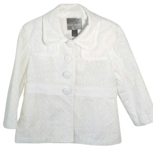 Mac & Jac Cotton Summer Lace White Jacket