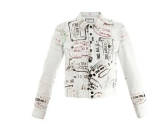 MARY KATRANTZOU Spring Printed Denim Multi Womens Jean Jacket
