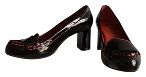 Cole Haan Women's Patent Leather Black with Red Stitching Pumps