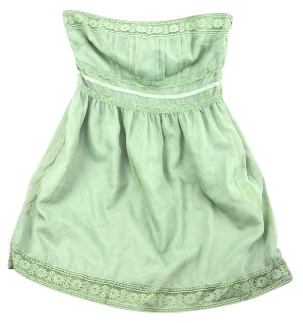 Preload https://img-static.tradesy.com/item/20715034/forever-21-mint-sage-strapless-lace-chiffon-short-casual-dress-size-8-m-0-1-650-650.jpg