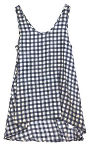 painted threads Gingham Checkers Long Shirt Tunic