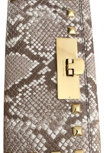 Michael Kors NWT CALLIE STUD CARRYALL EMBOSSED LEATHER WALLET