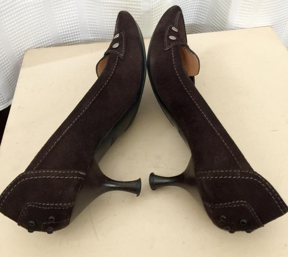 400164ede Tod's Brown Driving Pointed Toe Loafer Pumps Size US 6.5 Regular (M ...