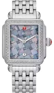 Michele NWT Deco Diamond Mosaic Diamond Dial Watch $2200