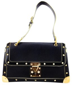 Louis Vuitton Textured Leather Studded Adjustable Belt Shoulder Bag
