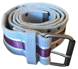 Other blue belt with purple satin ribbon