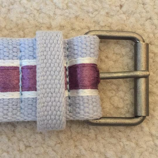 Other blue belt with purple satin ribbon Image 1