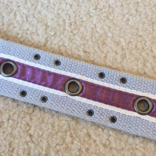 Other blue belt with purple satin ribbon Image 2