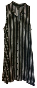 Banana Republic short dress Black Striped Sleeveless on Tradesy