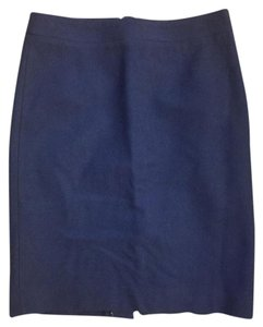 J.Crew Wool Pencil Blue Work Skirt Royal Blue