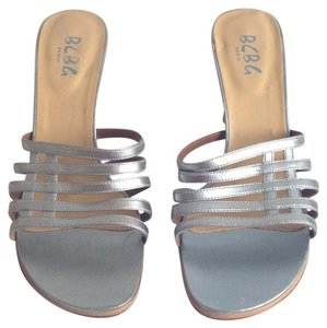 BCBG Paris Silver Sandals
