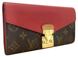 Louis Vuitton Louis Vuitton Monogram Pallas Cerise Long Bifold Wallet /401