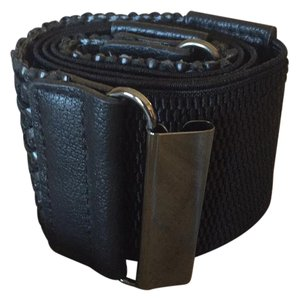 Other black stretch belt with braided detail