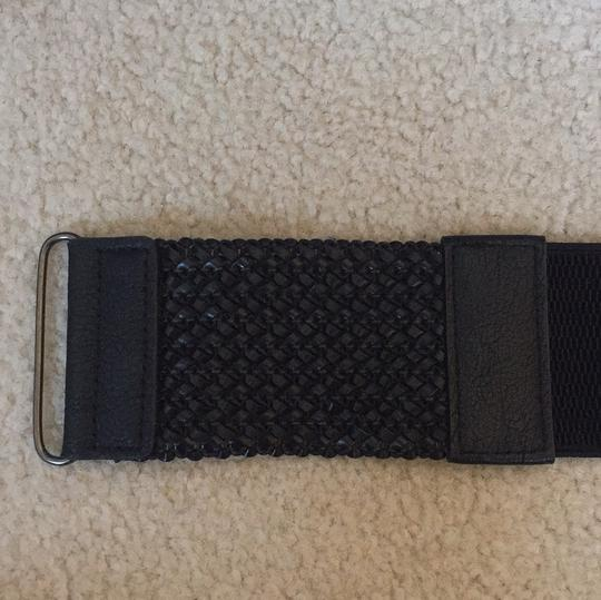 Other black stretch belt with braided detail Image 2