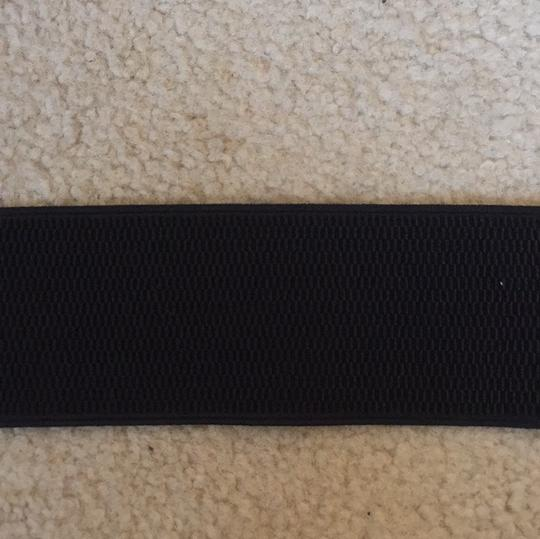Other black stretch belt with braided detail Image 3