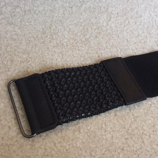 Other black stretch belt with braided detail Image 4