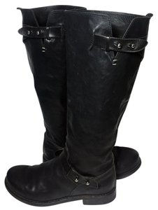 Rag & Bone And Knee High Motorcycle 7.5 Women Size 7.5 Black Boots