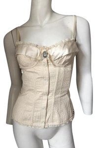 John Galliano Galliano Bustier Cameu Top