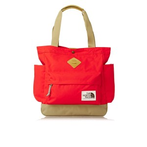 The North Face Travel Laptop Leather Tote in Orange / Fiery Red