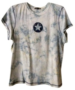 One World 100% Cotton Tie Dye Comfortable T Shirt blue