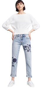 Anthropologie Embroidered Exclusive Pilcro High-fashion Relaxed Fit Jeans