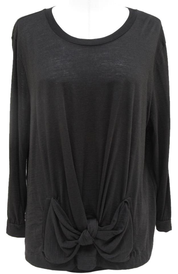 See By Chlo 34 Length Sleeve Knit Scoop Neck 42 10 Black Sweater