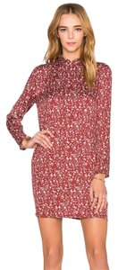 Rolla's short dress Red Floral High Neck Long Sleeve on Tradesy