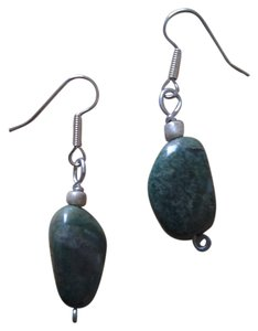 Handmade NEW Handmade Gemstone EARRINGS African Jade Bead Drop Buy3get1 FREE Sale!