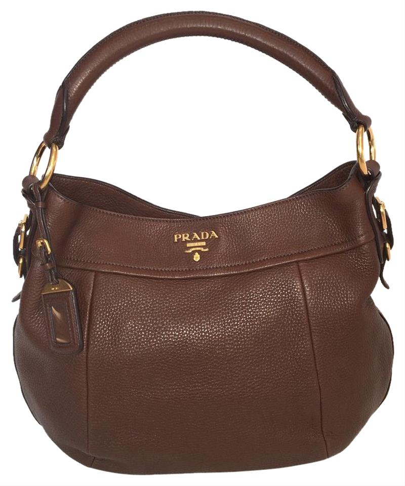 81ecee486c8f ... sale prada brown leather hobo bag tradesy 41e5a fcf2d