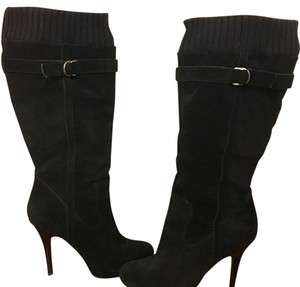 Guess Suede Stiletto Black Boots