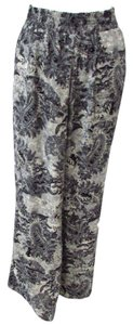 Bobeau Relaxed Pants Gray Paisley