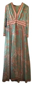Green and Coral Maxi Dress by Averardo Bessi