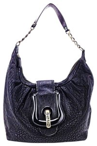 Fendi Pebbled Leather Textured Hobo Shoulder Bag