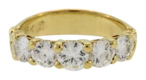 Other 5 Stone Diamond Eternity Ring- 18k Yellow Gold