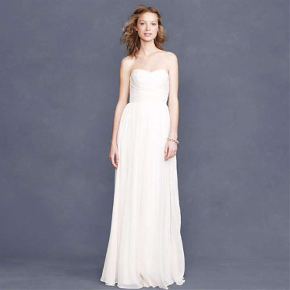 J.Crew Ivory Arabelle Casual Wedding Dress Size 8 (M