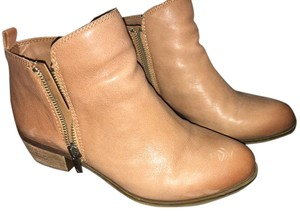 Lucky Brand Leather Western Trendy Toffee Boots