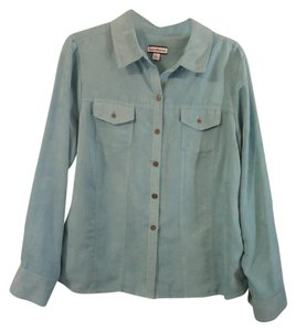 Croft & Barrow Soft Button Down Shirt blue