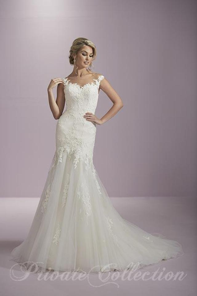House of Wu Ivory Over Nude Nude Illusion Lace and Tulle 18071 ...