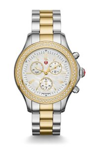 Michele NWT Jetway Diamond 2 TONES Mother of Pearl Dial watch