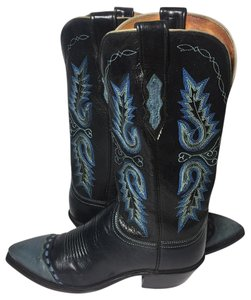 Lucchese Black Cowgirl 7 Women's 7 Blue Boots