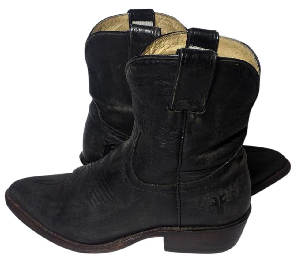 fd2e6a26026 Frye 77815 Billy Short Cowgirl 6.5 Women's 6.5 Black Boots Image 0 ...