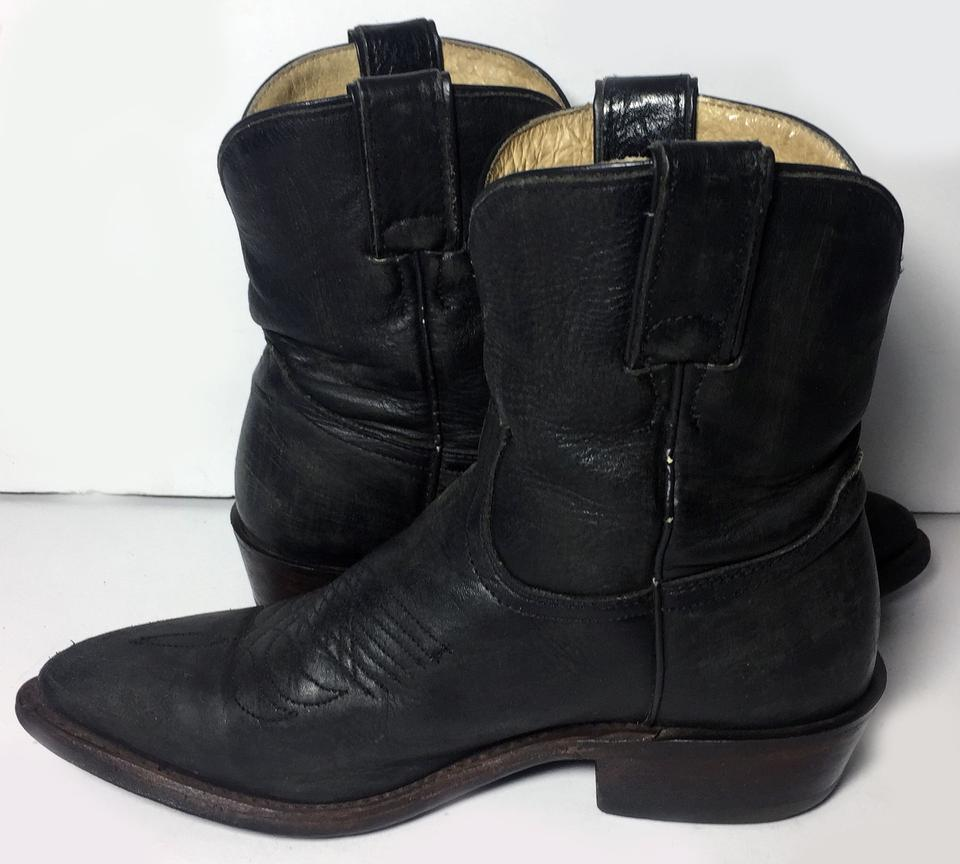 1e175c65716 Frye Black 77815 Billy Short Leather Cowgirl Women's Boots/Booties Size US  6.5 Regular (M, B) 30% off retail