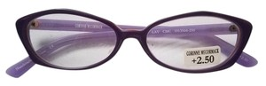 Corinne McCormac NEW Corinne McCormack Reading Glasses Purple +2.50, +2.00,+1.50