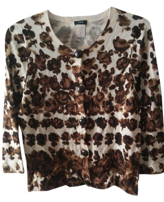 Item - Brown Floral Cardigan Size 8 (M)