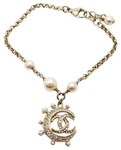 Chanel #10528 15C Cruise Moon collection CC bracelet crystals gold chain